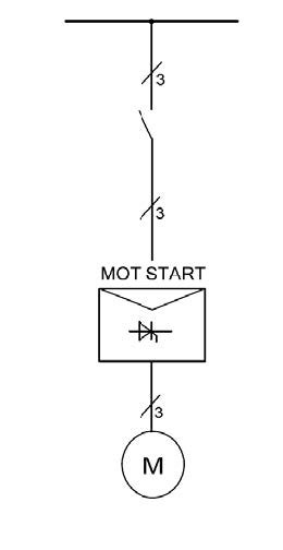 soft starter wiring soft starter between power and cable to motor